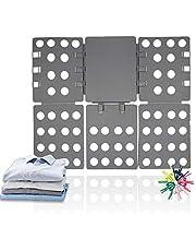 ValueHall Clothes Folder Shirts Folder Clothes Folding Board Kids Adult T-Shirt Folding aid Laundry Organizer Clothes Flip Folder for Shirts and Trousers V7031A (Gray)