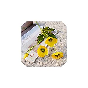 Fashion-LN Wedding Flowers Bouquet Party Home Artificial Flowers House Supplies Decoration Home Decoration,Yellow 67