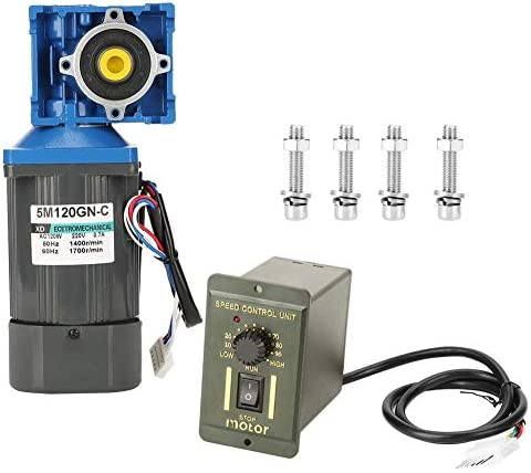 ZJN-JN 減速機モーター、産業機器ホームアプリケーションのための知事とAC220V 120W 1400rpm CW/CCWセルフロックウォーム変動金利ギアモーター(25K) 工業用モータ