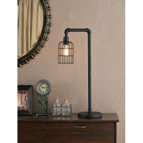 Kenroy Home 33282BRZG Leavenworth 29'' Bronzed Graphite Table Lamp W/Steel Shade