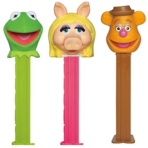 PEZ Candy Muppets Dispensers Set: Kermit the Frog, Miss Piggy and Fozzie Bear ()