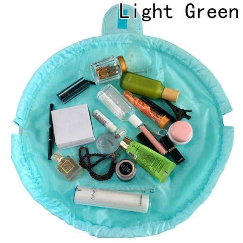 Quick Pack Cosmetic Bag Large Capacity Makeup Toiletry Multifunction Bag (Color - Light Green)