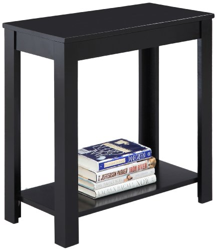 Crown Mark Pierce Side Table, Black (Contemporary Country End Table)