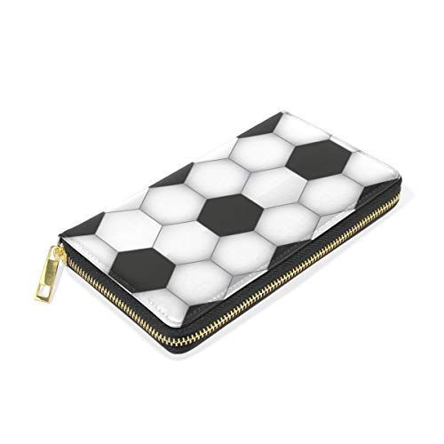 Wallet Handbags TIZORAX Hexagon Clutch Around Soccer Organizer Womens Purses And Zip qgvPB