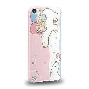 Case88 Premium Designs Little Twin Star Kiki And Lala Dreamy Diary 1318 Carcasa/Funda dura para el Apple iPod Touch 5