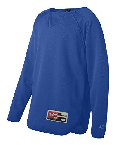 - Rawlings - Youth Active Sports Long Sleeve Flatback Mesh Fleece Pullover