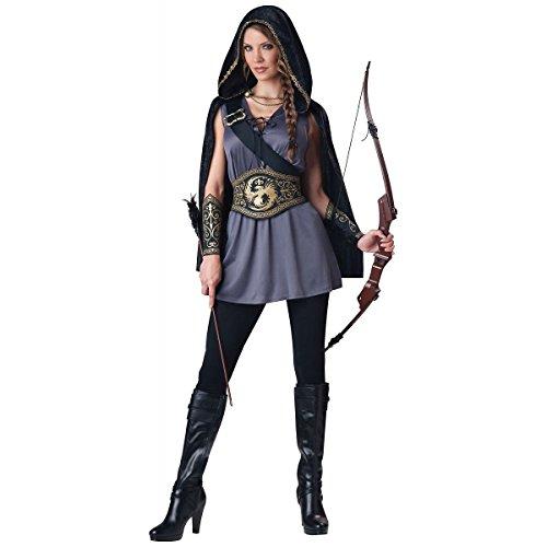 MutterMui Katniss Everdeen Costume Hooded Huntress Hunger Games Halloween Fancy Dress Plus Size 2X (Katniss Everdeen Halloween Costumes)