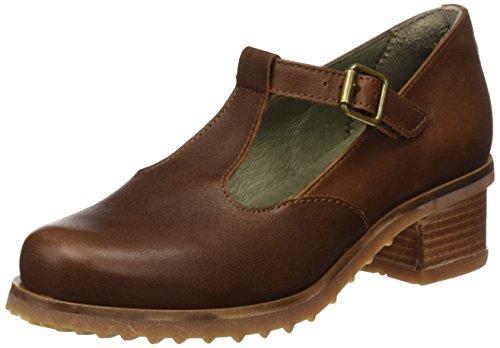 El Naturalista Women's N5101 Ibon Kentia Sling Back Heels, Black Brown (Wood Wood)