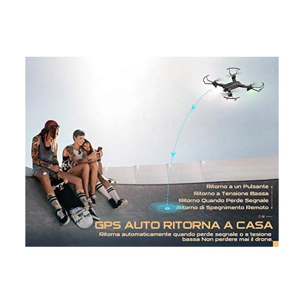 SNAPTAIN SP500 1080P Drone con GPS Telecamera FHD, Trasmissione WiFi 5G, modalità Ritorno Home, modalità Seguimi, Controllo dei Gesti, Volo Circolare, modalità Hover per i Principianti 4 spesavip