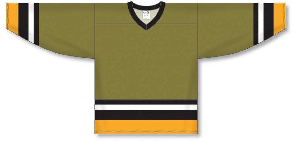 Customization Depot Brampton Olive Sleeve Stripes Pro Blank Hockey Jerseys