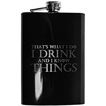 8oz BLACK That's What I Do Flask L1
