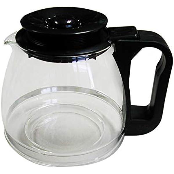 Tecnhogar 00566 - Jarra cónica universal para cafetera con tapa regulable altura, transparente/negro, capacidad 1 L: Amazon.es: Hogar
