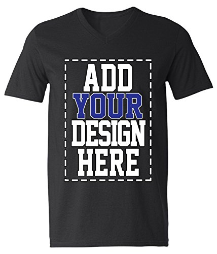 - Custom V Neck T Shirts for Men - Make Your OWN Shirt - Add Your Design Picture Photo Text Printing