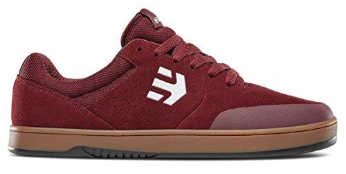 Etnies Marana, Men's Skateboarding Shoes Burgundy/tan/white