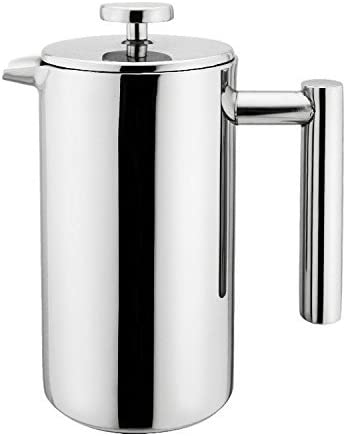 Small Stainless Steel French Press – 12 ounce Coffee Plunger, Press Pot, Best Tea Brewer Maker, 3 cups 4 oz each cup , Quality Cafetiere, Simple Package