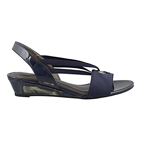 Women's Life Stride, Yario Low Heel Wedge Sandals NAVY 8 M
