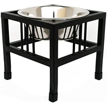 """Baron Single Bowl Dog Feeder - Elevated Diner - 10"""" Tall"""