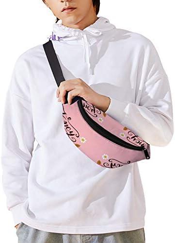ファンシーアフスクエア ウエストバッグ ショルダーバッグチェストバッグ ヒップバッグ 多機能 防水 軽量 スポーツアウトドアクロスボディバッグユニセックスピクニック小旅行