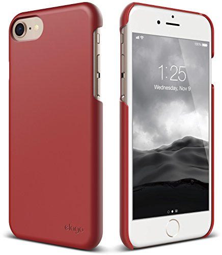 elago iPhone 8 / iPhone 7 case [Slim Fit 2][Red] - [Light][Minimalistic][True Fit]