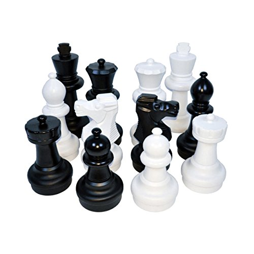 Kettler Junior Giant Chess Pieces Complete Set with 12 Inch Tall King, White and Black by Kettler