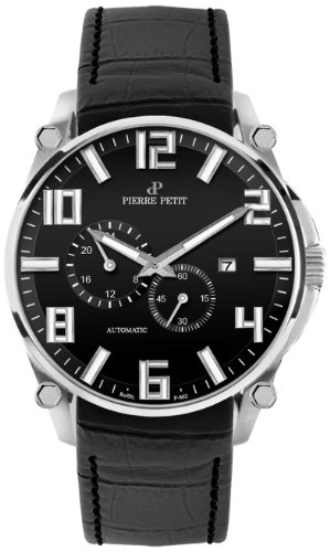 Pierre Petit Le Mans P-802A 44mm Automatic Stainless Steel Case Black Nylon Anti-Reflective Sapphire Men's Watch