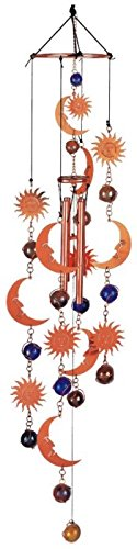 Wind Chime Copper & Gem Celestial Garden Decoration Hanging Decor