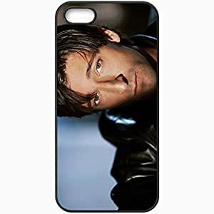 Personalized iPhone 5 5S Cell phone Case/Cover Skin Adrien Brody Brunette Face Bristles Eyes Shadow Black