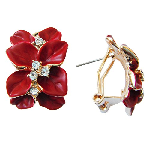 Navachi Plated Crystal Enamel Earrings