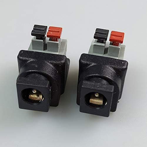 100pcs//lot Female DC Power Jack Connector 5.5x2.1mm for Single Color LED Strip Light for CCTV Camera DC5521 AV Balun Terminal