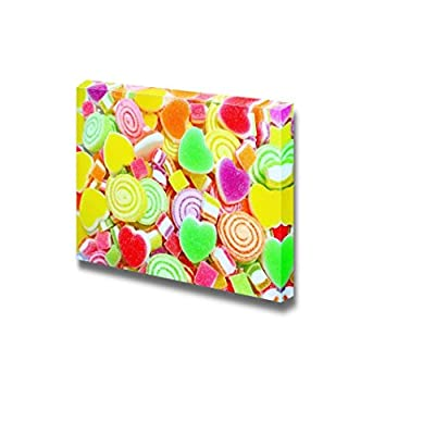 Canvas Prints Wall Art - Colorful Candy/Sweets on a Background | Modern Wall Decor/Home Decoration Stretched Gallery Canvas Wrap Giclee Print & Ready to Hang - 16