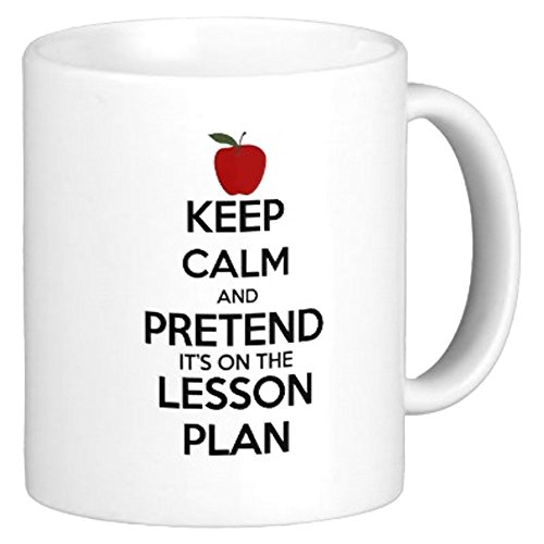 Funny Teacher Mug - Keep Calm Lesson Plan - Mug For Teachers - Best Teacher Mug - 11oz Mug