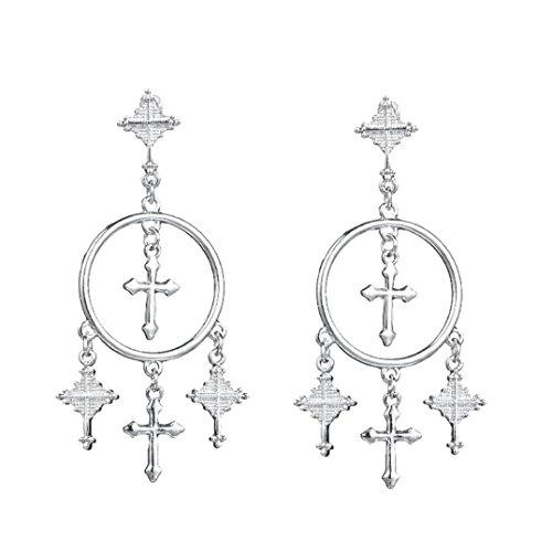 Sunyastor Clearance! Vintage Retro Women Art Dangle Earring Eardrop Ear Stud Fashion Jewelry Gift (Silver, One Size)
