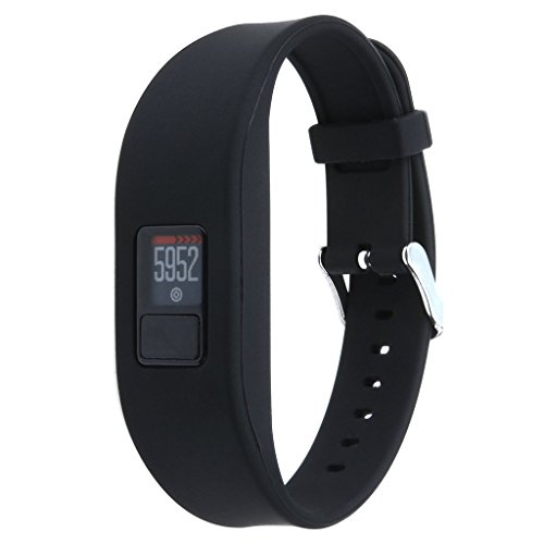 QGHXO Band for Garmin Vivofit 3 / Vivofit JR, Soft Silicone Replacement Watch Band Strap for Garmin Vivofit 3 / Vivofit JR/Vivofit JR 2 Activity Tracker, Fit 6.0 inches-9.0 inches (152mm-230mm) Wrist
