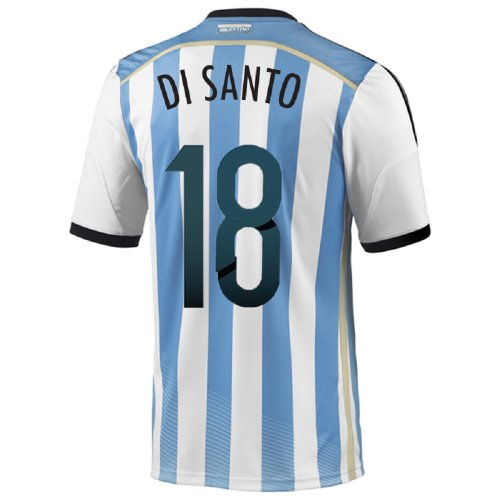 アルミニウム共産主義者責めるAdidas Di Santo #18 Argentina Home Jersey World Cup 2014/サッカーユニフォーム アルゼンチン ホーム用 ワールドカップ2014 背番号18 ディ?サント
