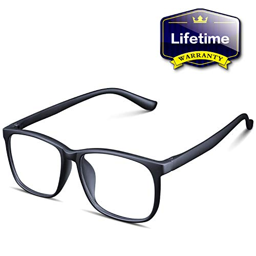 Blue Light Blocking Glasses for Women Men – Upgraded Triple Layer Anti Blue Ray Reading Glasses, Stylish Square Nerdy…
