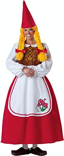 Mrs Garden Gnome Costumes (Mrs Garden Gnome Adult Costume - Medium)