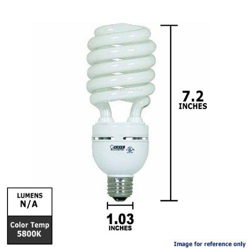 Feit Electric Compact Fluorescent - Feit Electric ESL40TN/D 42-Watt Compact Fluorescent High-Wattage Bulb, Daylight - CASE OF 6 (SIX) BULBS.