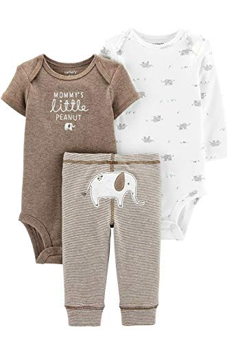 Carter's 3-Piece Peanut Little Character Set (9 Months) Brown and White