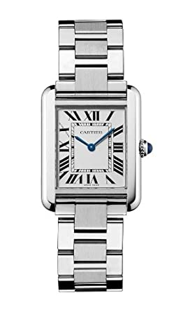 a6c879fb42a7 Image Unavailable. Image not available for. Color  Cartier Women s W5200013   quot Tank Solo quot  Stainless Steel Dress Watch