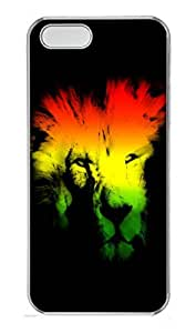 taoyix diy iPhone 5 5S Case Abstract Lion Head PC Custom iPhone 5 5S Case Cover Transparent