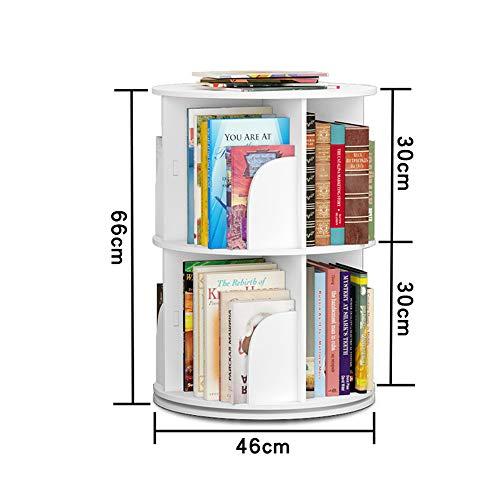 NN Bookshelf, Modern Minimalist Bookcase Display Cabinet, Floor-Standing Bookcase, 360° Rotating Bookshelf, Corner, economical and Environmentally Friendly Furniture Storage Shelf (Size : 2 Layer) ()
