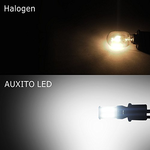AUXITO 912 921 LED Backup Light Bulbs High Power 2835 15-SMD Chipsets Extremely Bright Error Free T15 906 W16W for Back Up Lights Reverse Lights, 6000K White (Pack of 2) by AUXITO (Image #2)