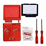 Timorn Full Parts Housing Shell Pack Replacement for Nintendo GBA SP Gameboy Advance SP (Wine Red Pack)