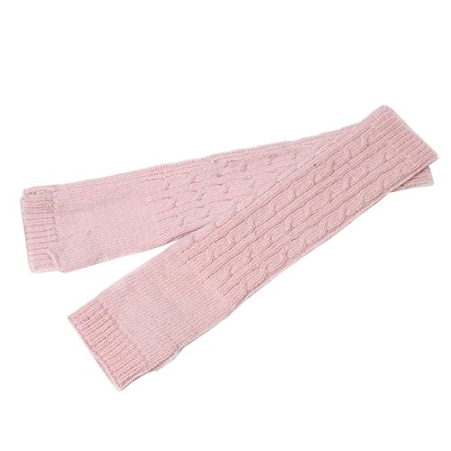 Song Knitted Mitten Fingerless Winter Soft Arm Warm Solid Crochet Long Gloves (Pink) (Warmers Arm Pink)