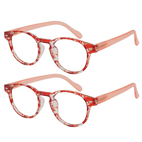OCCI CHIARI 2 Pack Fashion Reading Glasses Prescription Reader Eyewear 100 125 150 175 200 225 250 300 350 400 500 600(2.25)