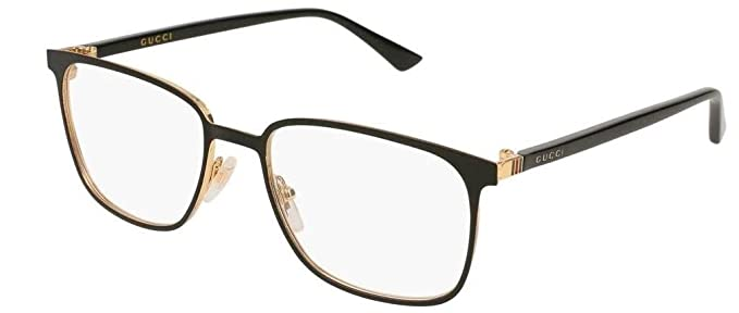 f1641db15d Amazon.com  Gucci GG0294O Eyeglasses 002 Black 54 mm  Clothing