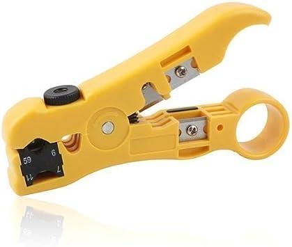 CSTOM® Pelacable Cortador de alambre separador para planas o redondas Cat5 Cat6 UTP Cable coaxial Herramienta 200359: Amazon.es: Electrónica