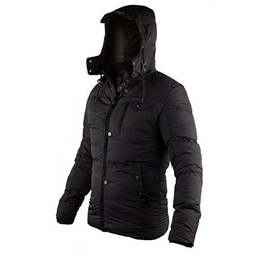 [해외]비토 리노 남성 두꺼운 패딩 자 켓 후드 퀼트 자 켓 겉 옷 탈착식 칼라 겨울 코트 남성 / Vittorino Men`s Thickened Puffer Jacket Hooded Quilted Jacket Outwear with Detachable Collar Winter Coats for Men