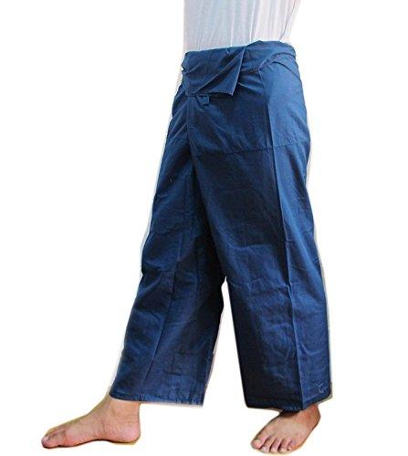 Blue Thai Fisherman Pants Pregnancy Pants Yoga Beach Summer Massage - Trap Goddess Costume