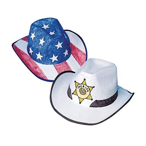 Cowabunga Cowboy Hats Craft Kit (Pack of 12)